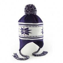 Purple Earflap toque, acrylic $15